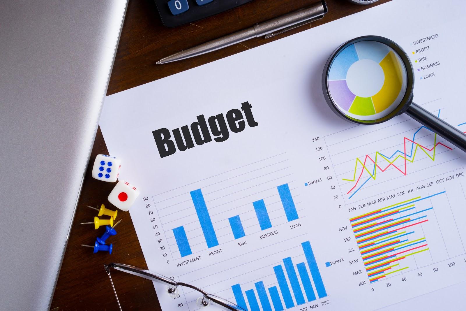 A budget spreadsheet
