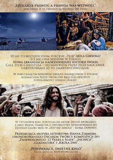 Tył ulotki filmu 'Syn Boży'