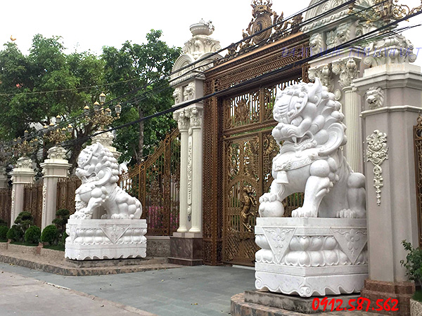 Tượng nghê đá trắng do Thăng Long sản xuất bán toàn quốc