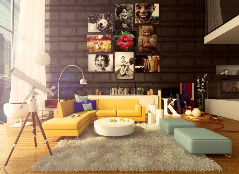 Phòng khách vô cùng độc lạ, cá tính theo phòng cách thiết kế nhà retro