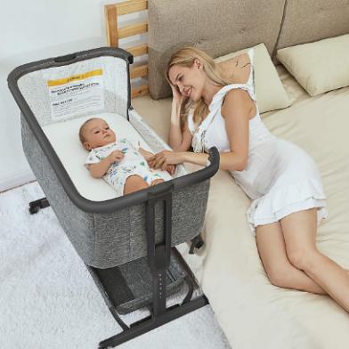 Best Baby co Sleeper-- AMKE's 3 in 1 Baby Bassinet, Bedside Sleeper, and Baby Crib