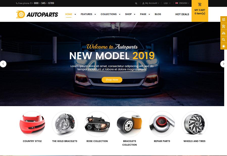 Auto parts shopify theme autoparts