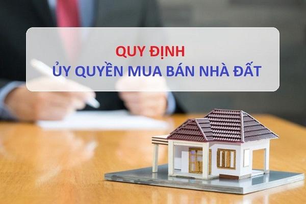 Phương thức ủy quyền mua bán nhà đất
