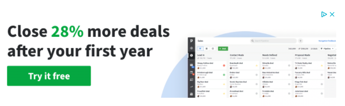 Pipedrive banner ad