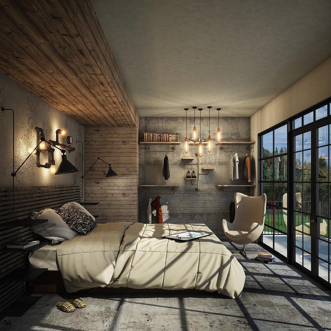 Luxury Industrial Bedroom Ideas