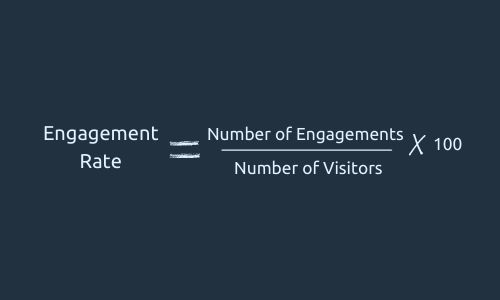 Formula for engagement rate