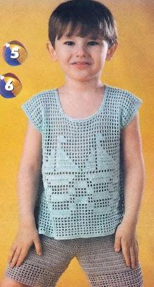 Связать футболку <b>спицами</b> мальчику 2 года