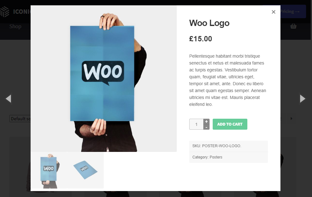 woocommerce product gallery lightbox