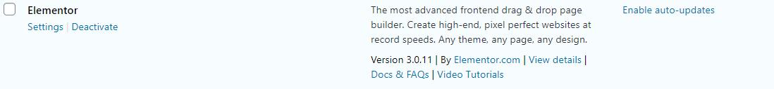 "Screenshot of a plugin on the ""plugins"" section of a WordPress dashboard"