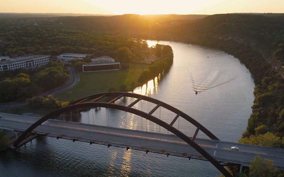 aerial bridge shot