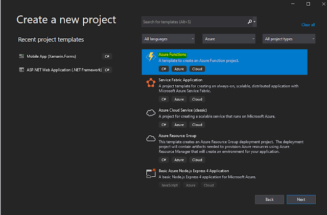 Quickstart: Create your first function in Azure using Visual Studio