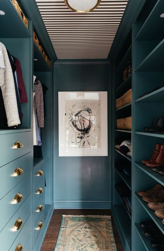 Aesthetic Abstract Small Walk-in Closet Ideas