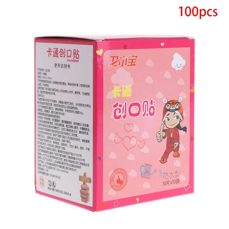 Bandage Uses And Benefits Of 100 pcs Cute Cartoon Bandages