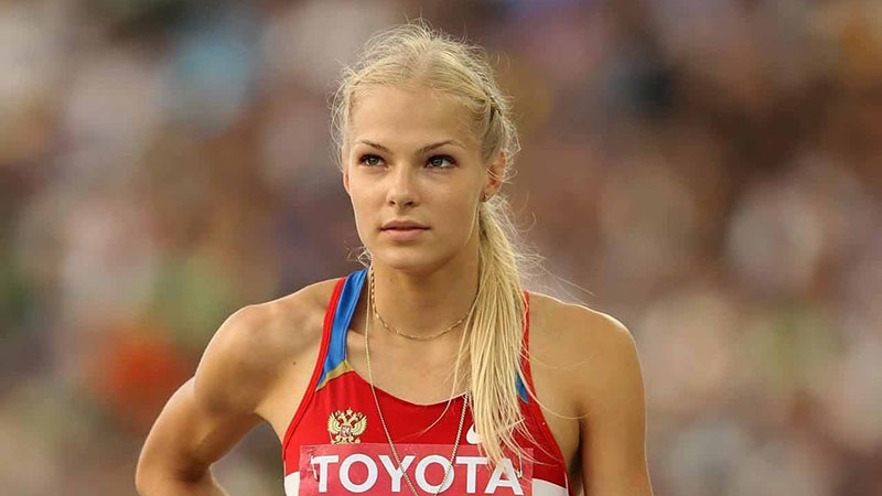 Successful athlete Daria Klishina: