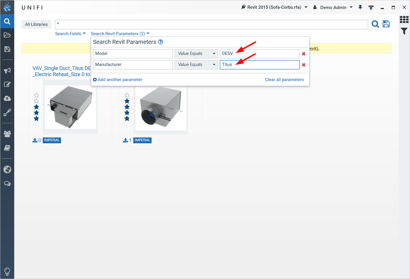 Search Revit Parameters: A New UNIFI Feature - UNIFI