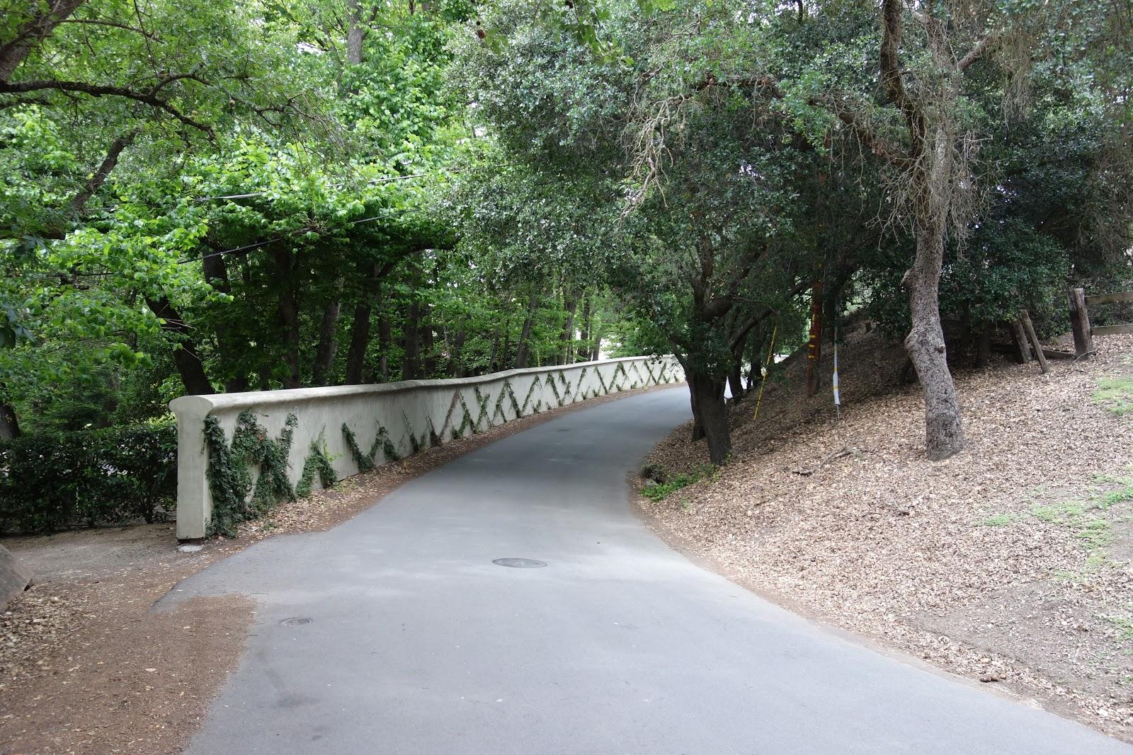 Cycling Mt. Diablo - South Gate - start of climb - bridge