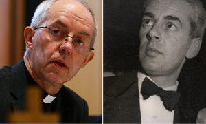 Justin Welby and his biological father, Anthony Montague Browne.