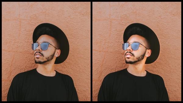 antes e depois da edição sendo que uma foto está mais iluminada que a outra