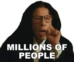 Millions Of People Fran Lebowitz Sticker - Millions Of People Fran Lebowitz  Pretend Its A City - Discover & Share GIFs