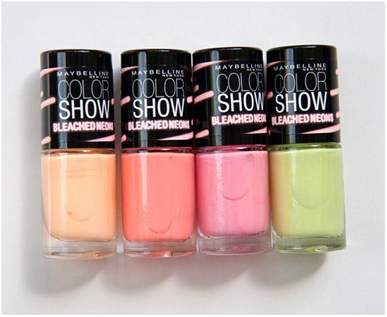 astuce le plus fonc des deux colorshow bleached neons sapplique en haut de longle et le plus clair se pose en bas - Vernis Color Show