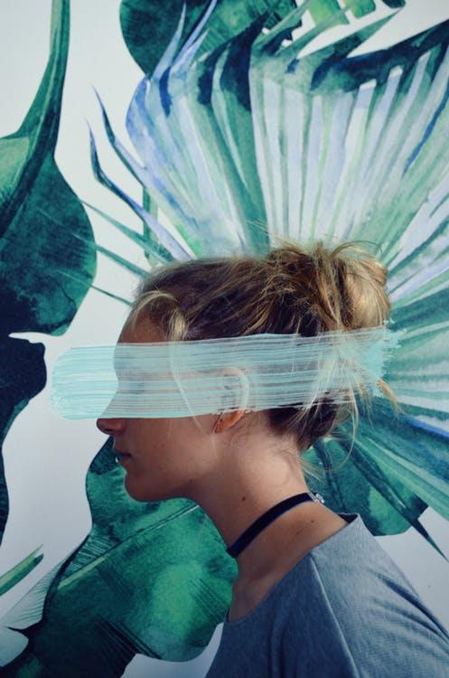 Woman Wearing Blue Top