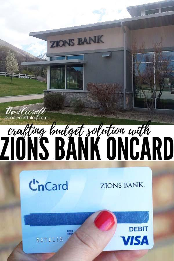 Crafting a budget with zions bank Oncard reloadable bank card