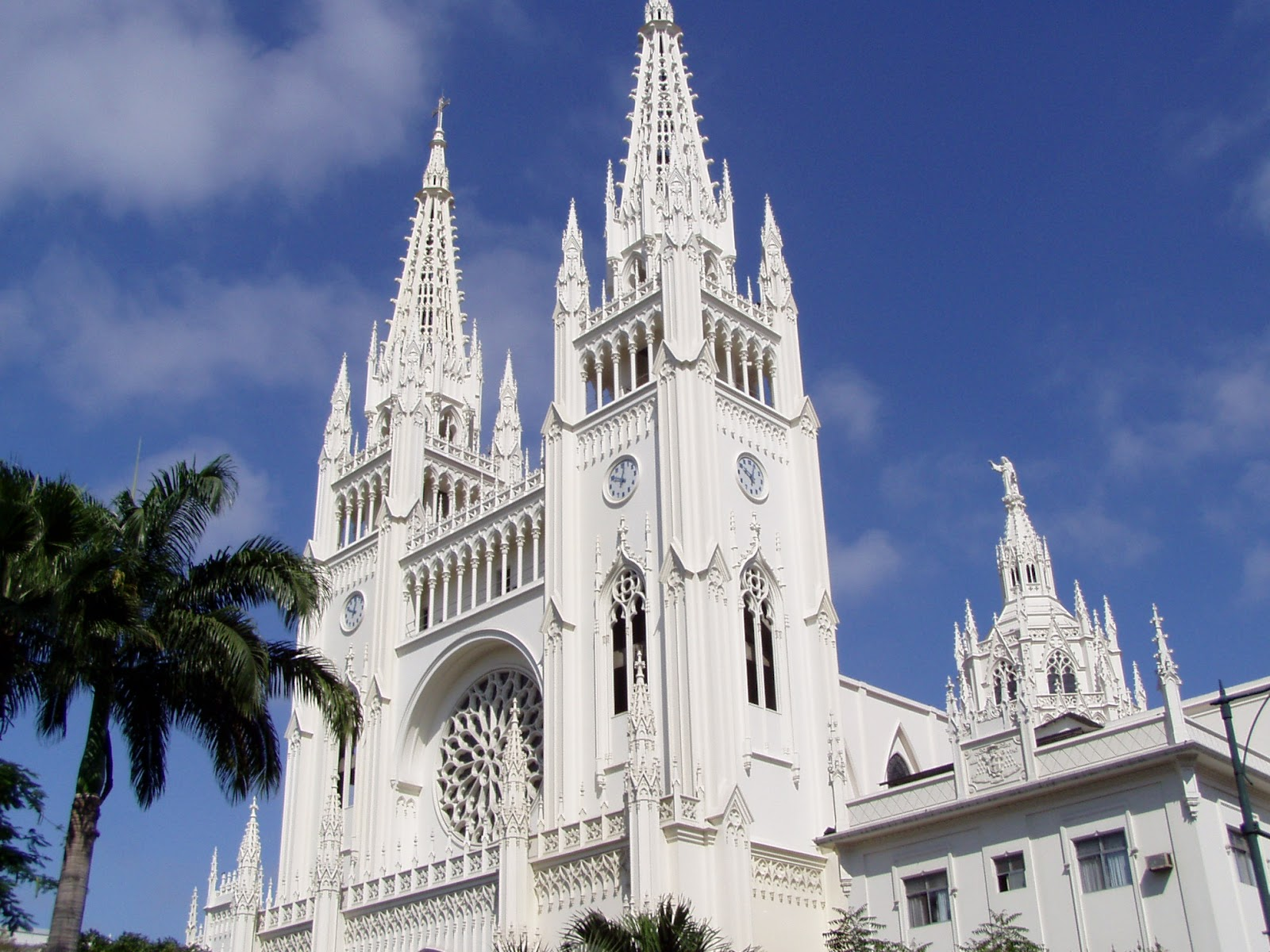 Guayaquil Metropolitan Cathedral white neo-gothic