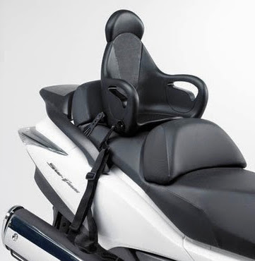 silla de moto para niños