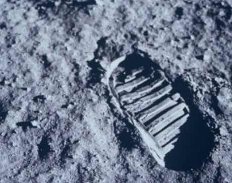 Here's the mysterious track on the moon