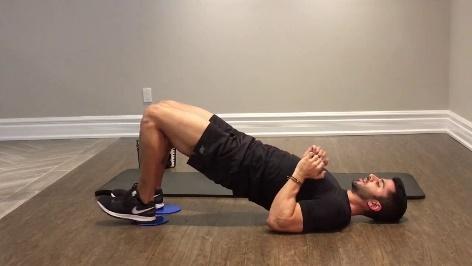 How To: Slider Leg Curl - YouTube