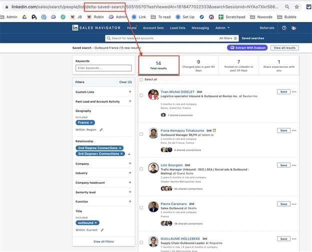 delta saved search sales navigator