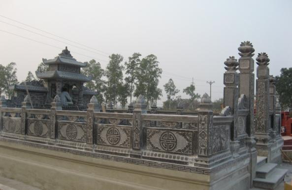 Hàng rào lăng mộ được thiết kế đẹp mắt và hấp dẫn