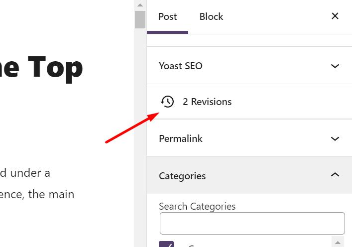 wordpress revisions, check wordpress revisions
