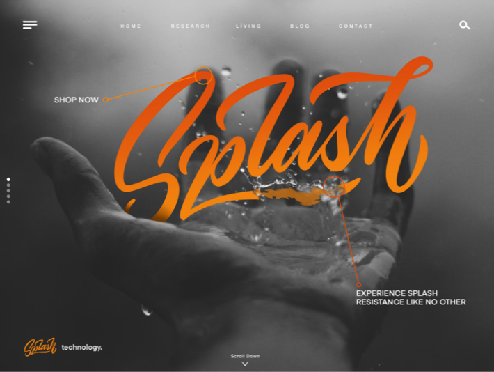 SPLASH - Web Lettering custom fonts fonts graphic design type design typography user interface web design design hand lettering lettering