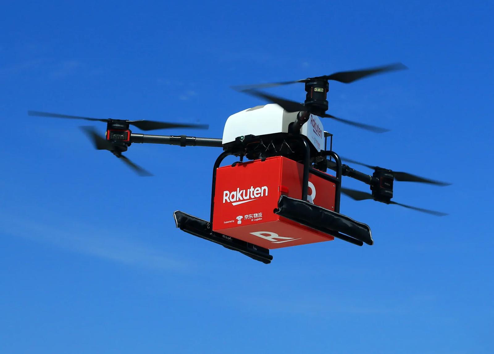 Rakuten drones