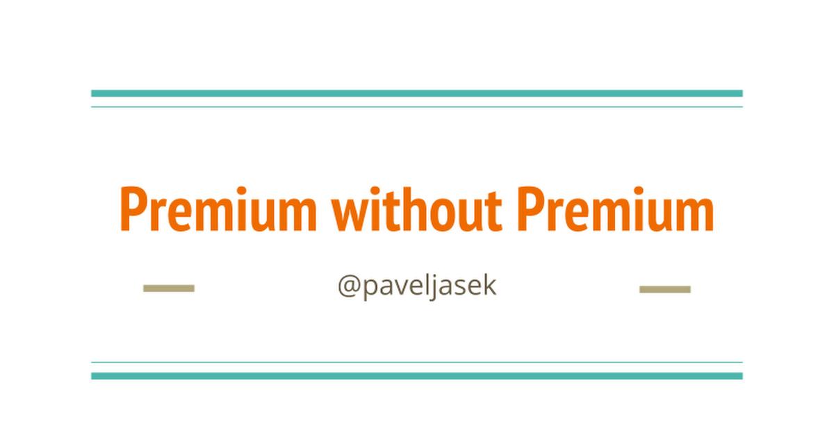 Thumbnail for Google Analytics Premium without Premium