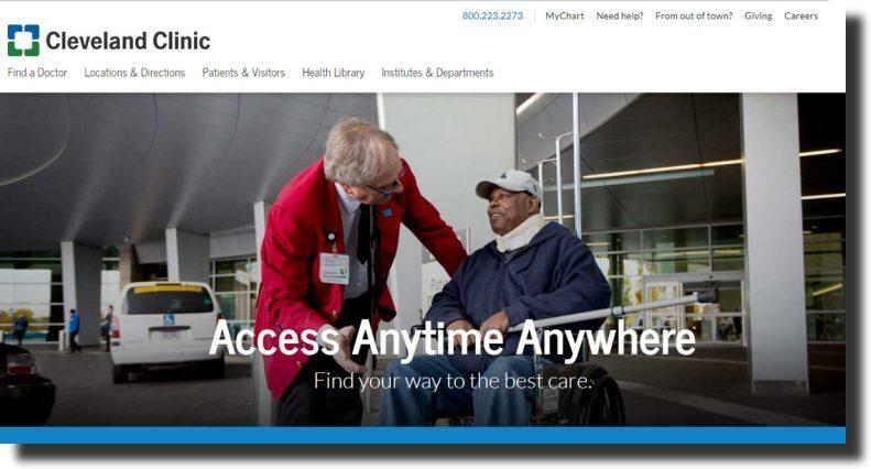 Cleveland Clinic website design