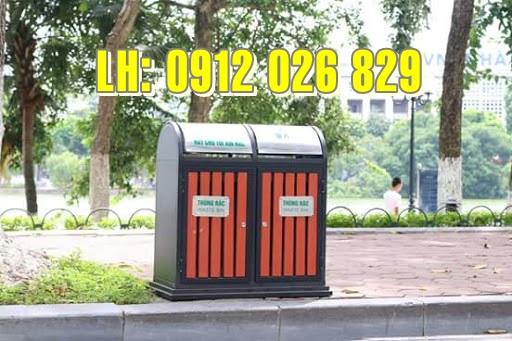 Các loại thùng rác nhựa công viên HOT nhất hiện nay