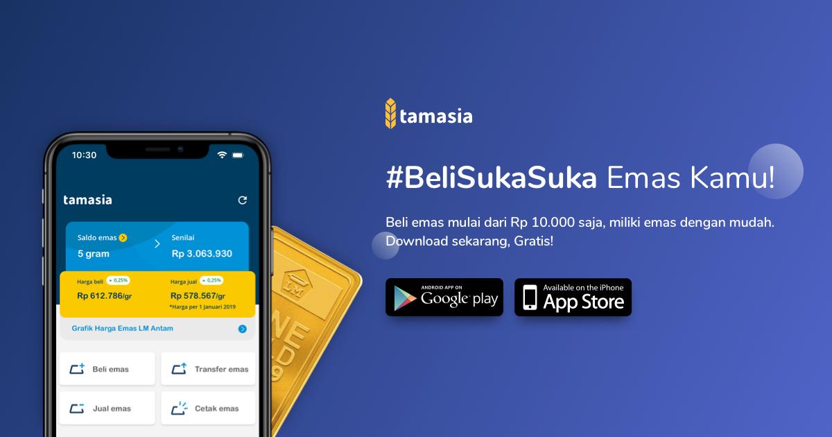 Aplikasi untuk menabung emas dari Tamasia