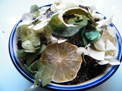 potpourri with dried lavender lime