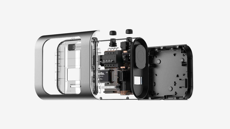 Una cámara fotográfica  Descripción generada automáticamente con confianza media