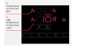 bếp từ Bosch PID675DC1E cảnh báo nhiệt dư
