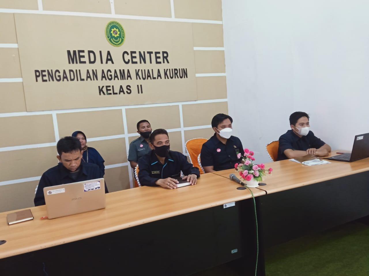 Pengadilan Agama Kuala Kurun Kelas II Ikuti Kegiatan Entry Meeting Desk Evaluation PMPZI Menuju WBK | (14/6)