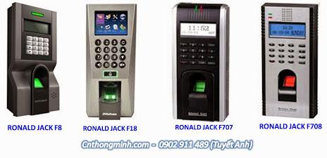 Máy chấm công vân tay và thẻ ronald jack F8, F18, F708, F707, CHẤM CÔNG GIÁ RẺ