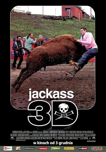 Przód ulotki filmu 'Jackass 3D'