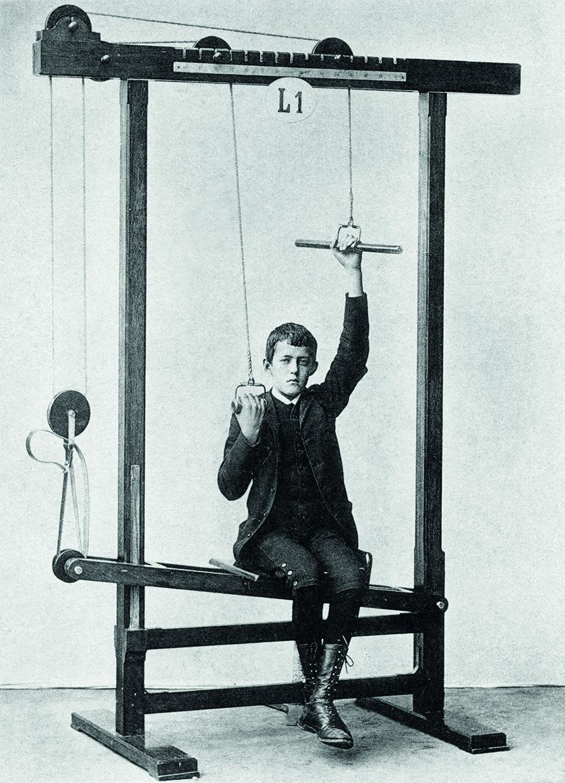 maquina de gimnasio inventada por el Doctor Zander