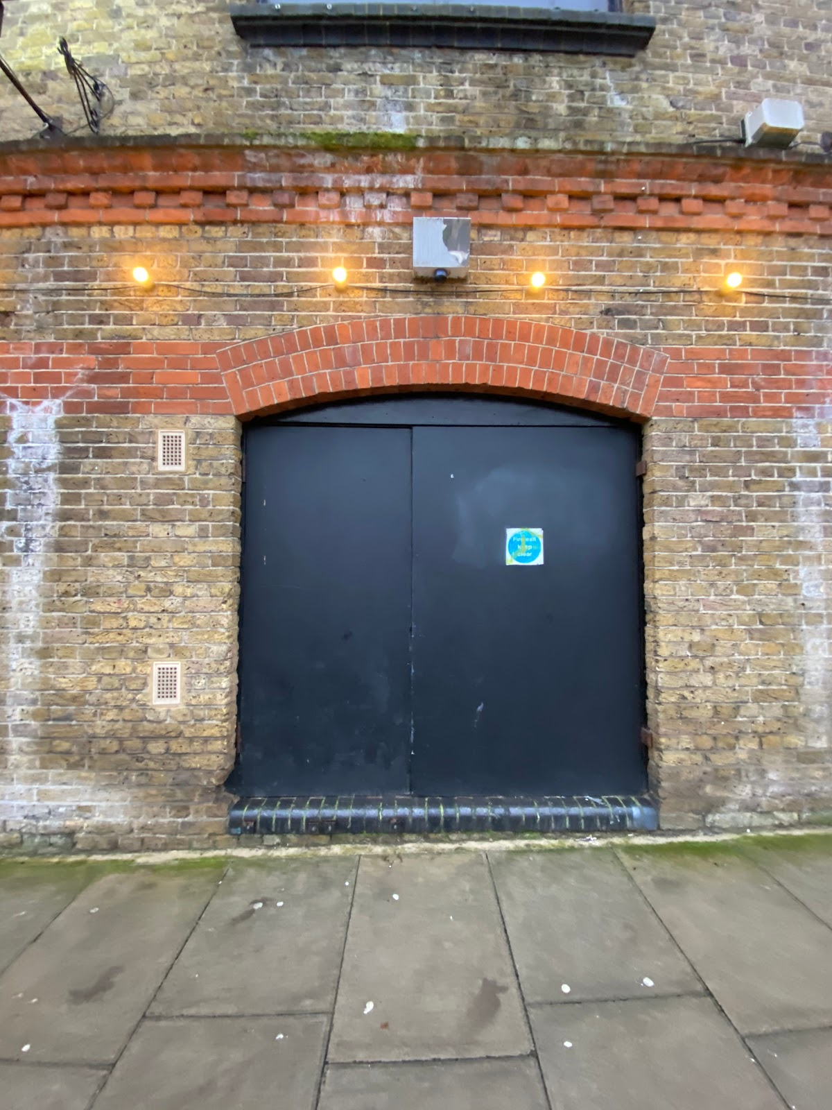 The access will be through the left hand side of the double doors