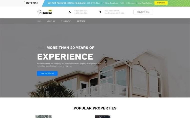 лучший бесплатный шаблон темы ботстрапа веб-сайт агентство архитектуры недвижимости