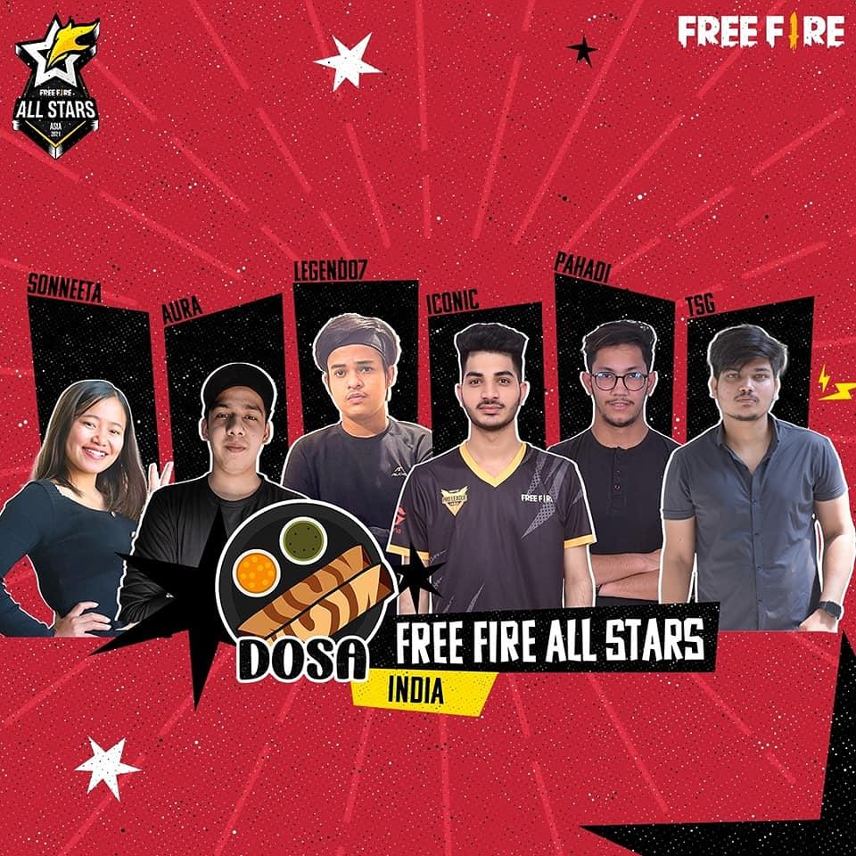 Free Fire All Stars Team Dosa