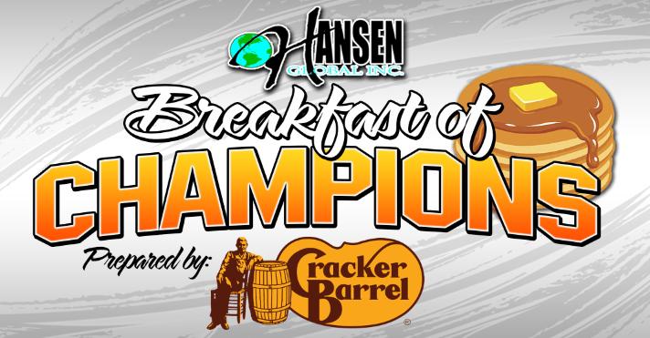 jegs-sfg 1.1 million breakfast of champions